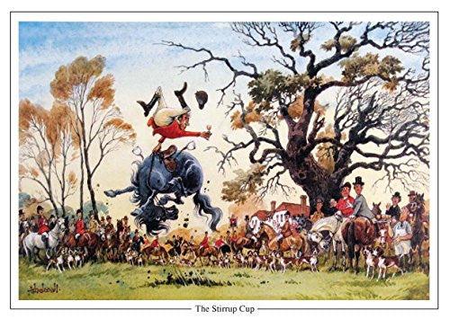 "Horse and Hunting Greeting Card ""The Stirrup Cup"" by Norman Thelwell"