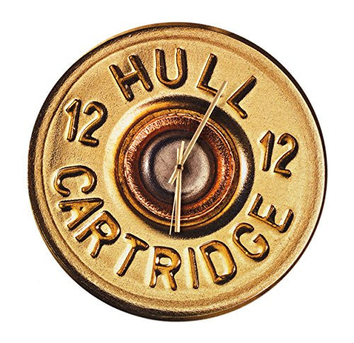 Hull Cartridge Clock - large 400mm wall clock. Shooting gift