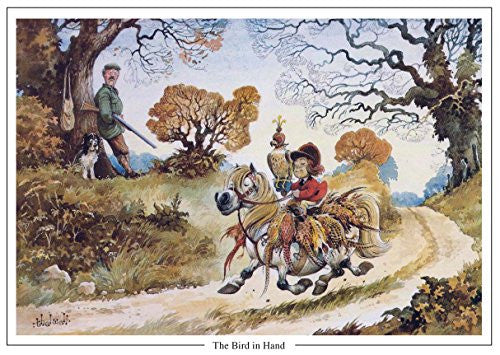 "Horse or Pony Greeting Card ""The Bird in Hand"" by Norman Thelwell"