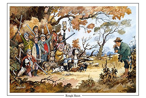 """Rough Shoot"" by Thelwell. Large A5 shooting and dog greeting card with envelope. Great gift accessory for the hunter or shooter"