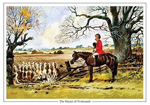 "Horse and Hunting Greeting Card ""The Master of Foxhounds"" by Norman Thelwell"