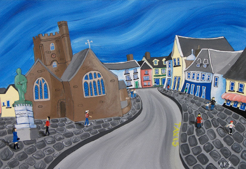 Brecon Town Welsh Borders Greeting Card.