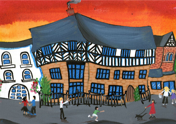 Welsh Borders Greeting Card. Castle Lodge, Ludlow