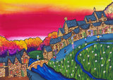 Bibury, Arlington Row Greeting Card by Amanda Skipsey. Classic Cotswolds