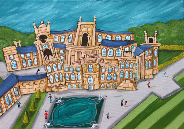 Cotswolds Greeting Card. Blenheim Palace by AK Skipsey