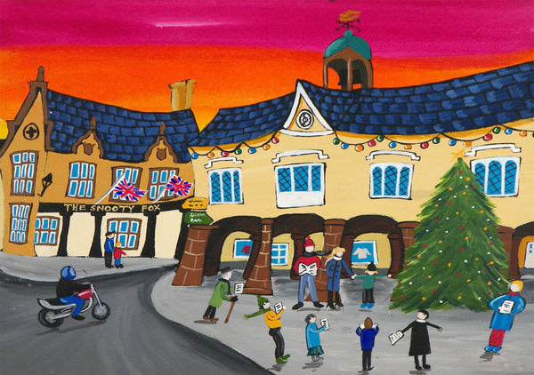 Tetbury Greeting Card by Amanda Skipsey. Classic Cotswolds