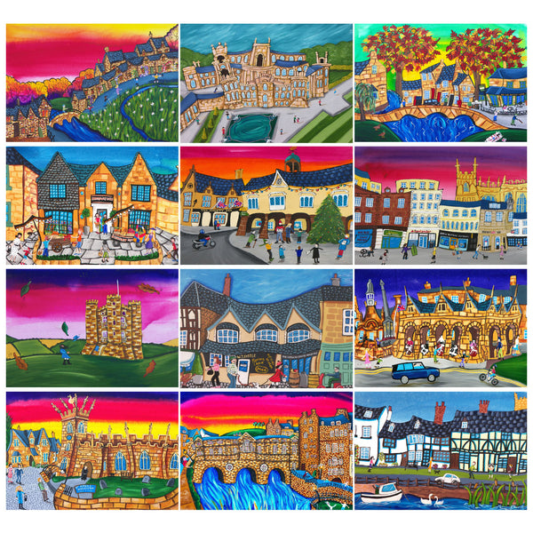 Cotswolds Towns, Villages and landmarks greeting card collection by Amanda Skipsey