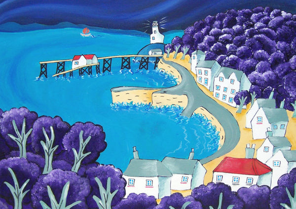Welsh Seaside Greeting Card. The Mumbles
