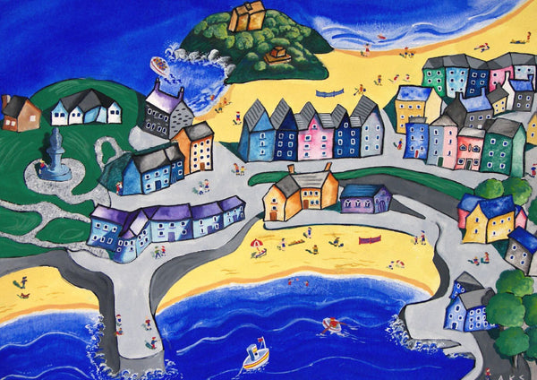 Welsh Seaside Greeting Card. Tenby