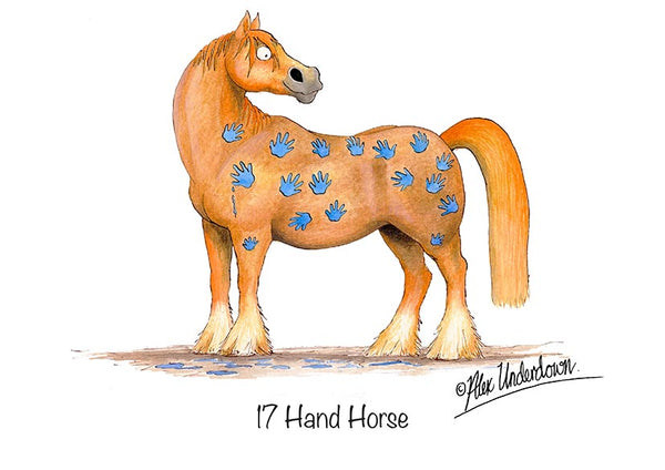 "Horse greeting card ""17 Hand Horse"" by Alex Underdown."