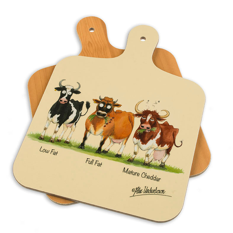 Dairy Cows themed mini chopping board