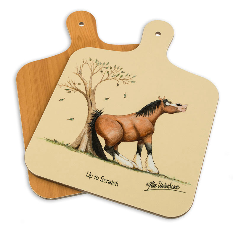 Upto Scratch, horse themed mini chopping board
