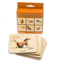 Horse and Pony Drinks Coasters by Alex Underdown