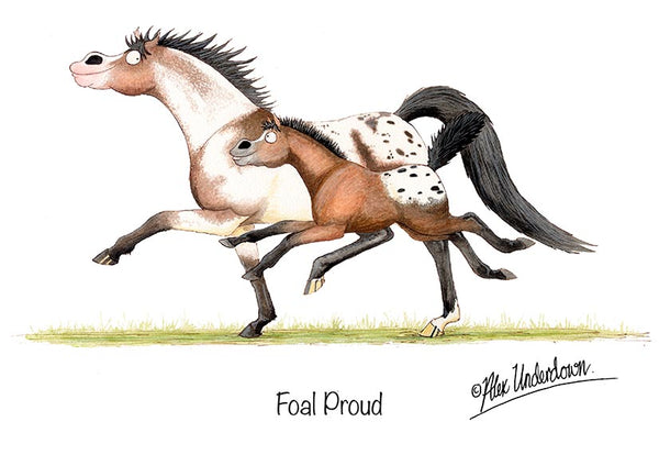 "Horse greeting card ""Foal Proud"" by Alex Underdown."