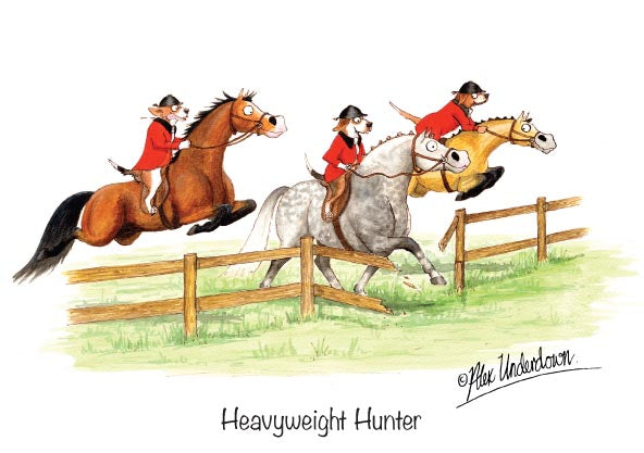 "Horse greeting card ""Heavyweight Hunter"" by Alex Underdown."