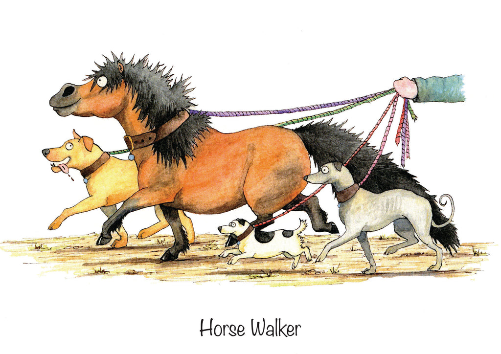 "Horse greeting card ""Horse Walker"" by Alex Underdown."