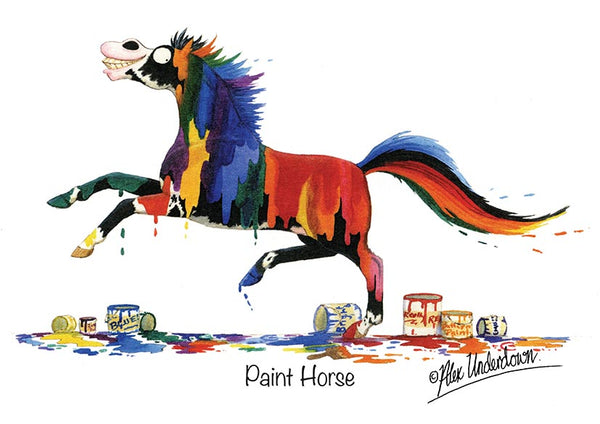 "Horse greeting card ""Paint Horse"" by Alex Underdown."
