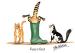 "Cat greeting card ""Puss in Boot"" by Alex Underdown."