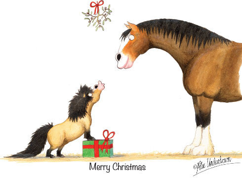 8 x Horse and Hound Christmas Cards by Alex Underdown