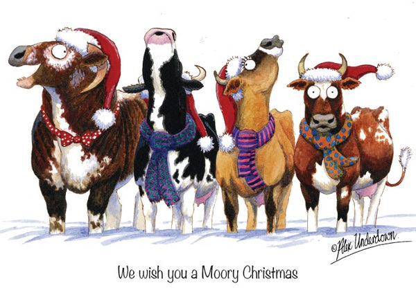 8 x Horse, Hound and Farm Animal Christmas Cards by Alex Underdown