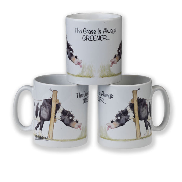 """The grass is always greener"" horse mug by Alex Underdown"
