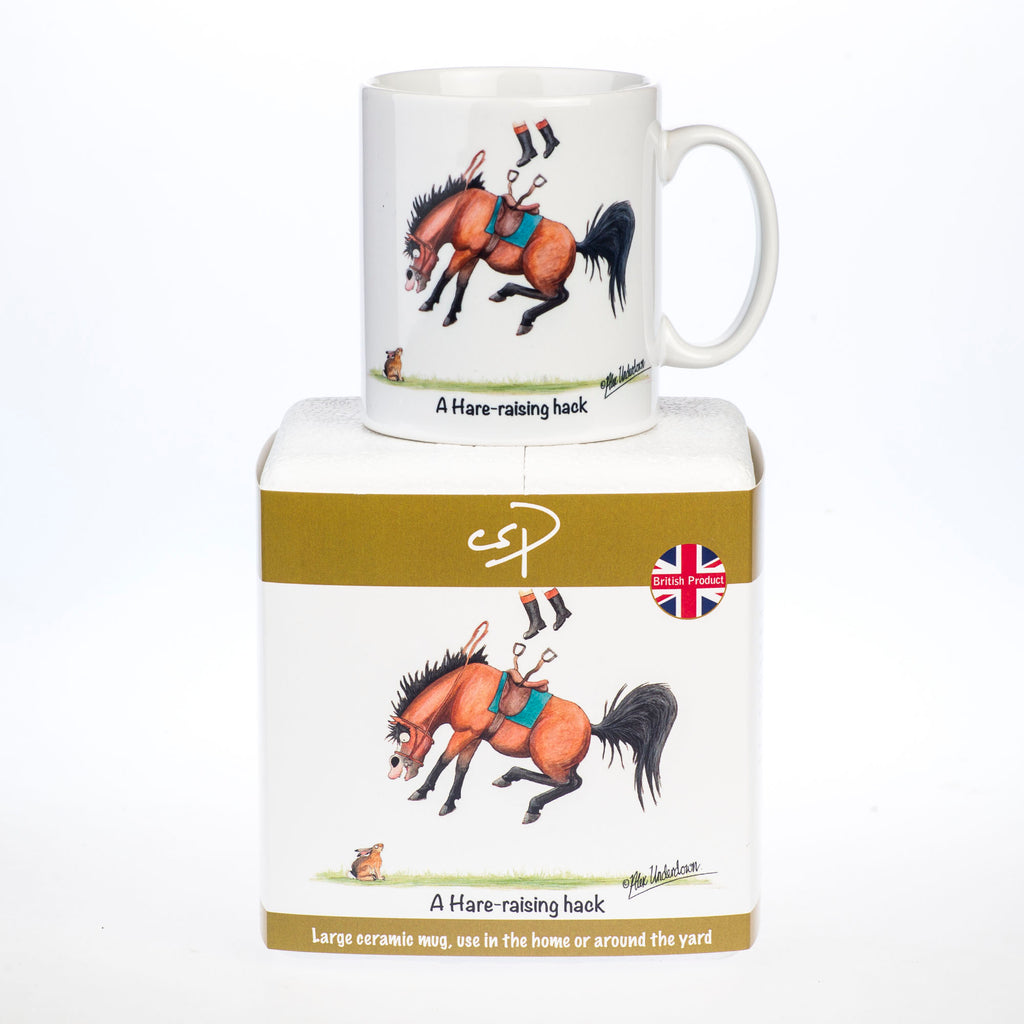 Horse mug. A Hare-raising hack by Alex Underdown