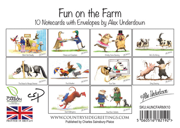 Fun on the Farm Notecard Pack by Alex Underdown