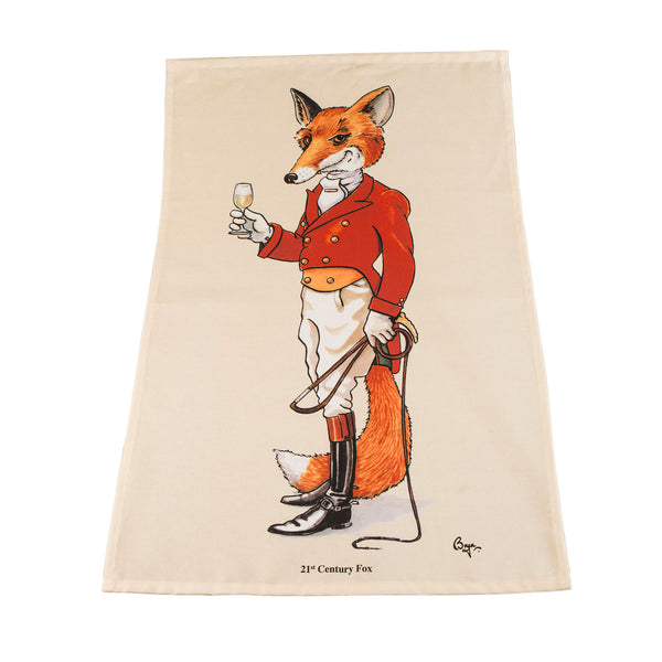 Fox Tea Towel. 21st Century Fox by Bryn Parry
