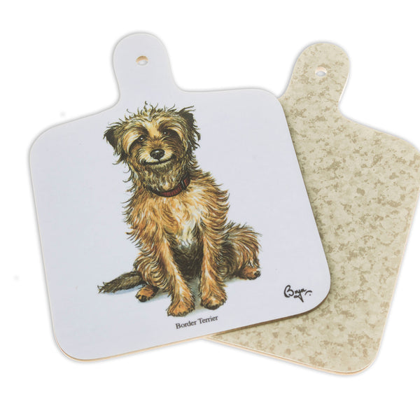 Mini Chopping Board. Border Terrier by Bryn Parry. Dog themed gift idea