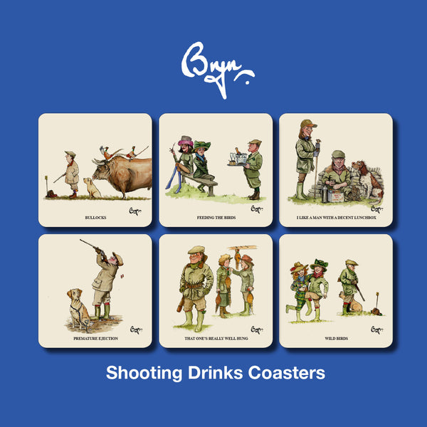 6 Shooting Coasters by Bryn Parry
