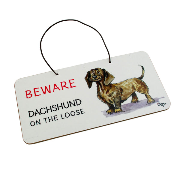 Dachshund Door Sign by Bryn Parry