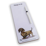 Slim magnetic memo dry wipe things to do board. Miniature wire-haired Dachshund by Bryn Parry