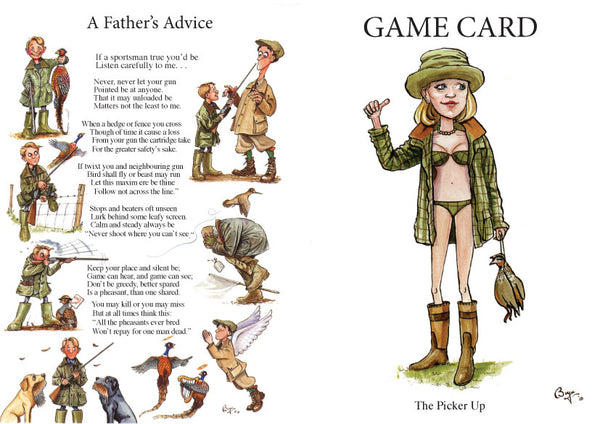 Shoot Game Cards. The Picker Up by Bryn Parry