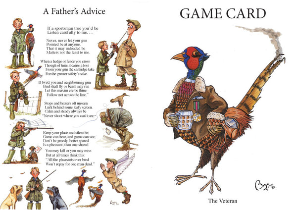 Shoot Game Cards. The Veteran by Bryn Parry