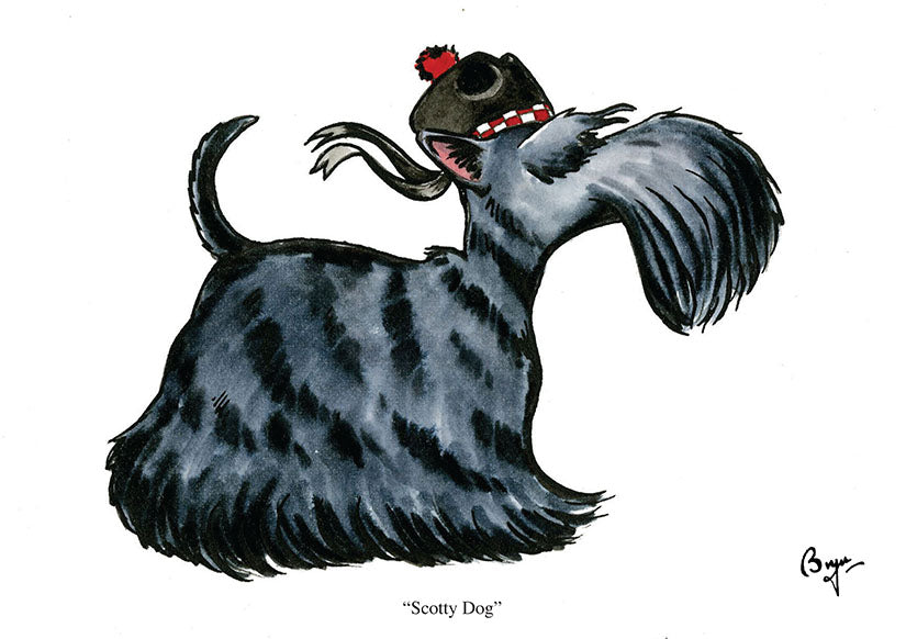 """Scotty Dog"" Scottish Terrier greeting card by Bryn Parry"