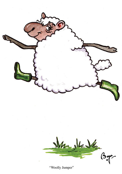 Sheep Greeting Card by Bryn Parry. Woolly Jumper