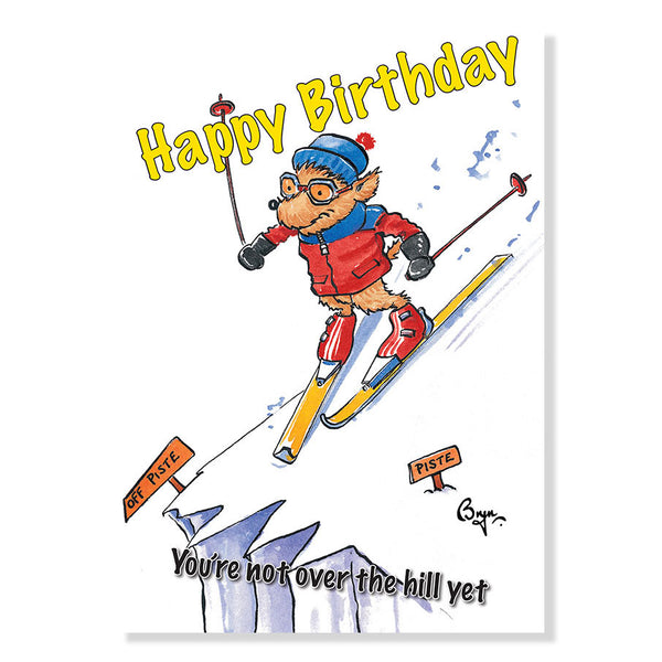 Skiing Birthday Card by Bryn Parry