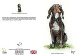 German wire-haired Pointer dog birthday card by Bryn Parry