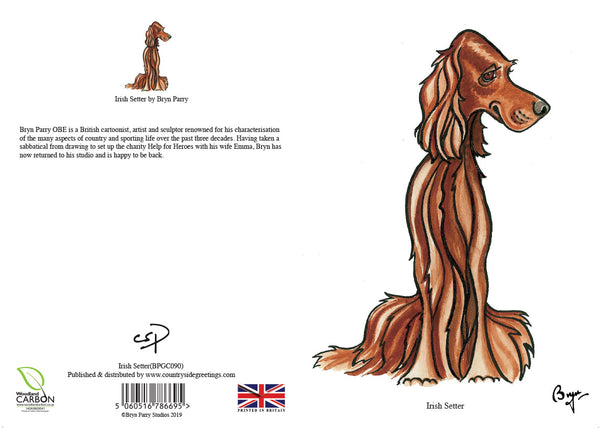 Irish Setter dog Greeting Card by Bryn Parry