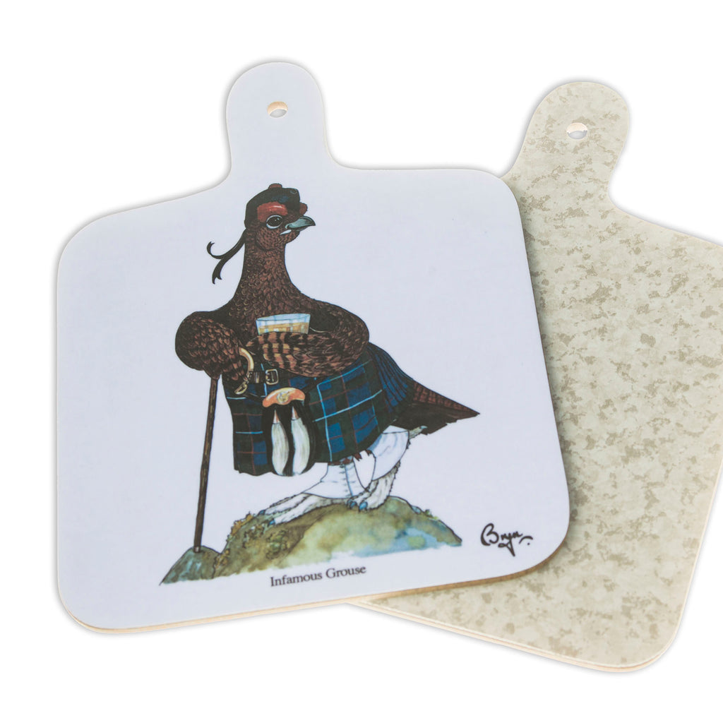 Mini Chopping Board. Famous Grouse by Bryn Parry. Sporting gift idea