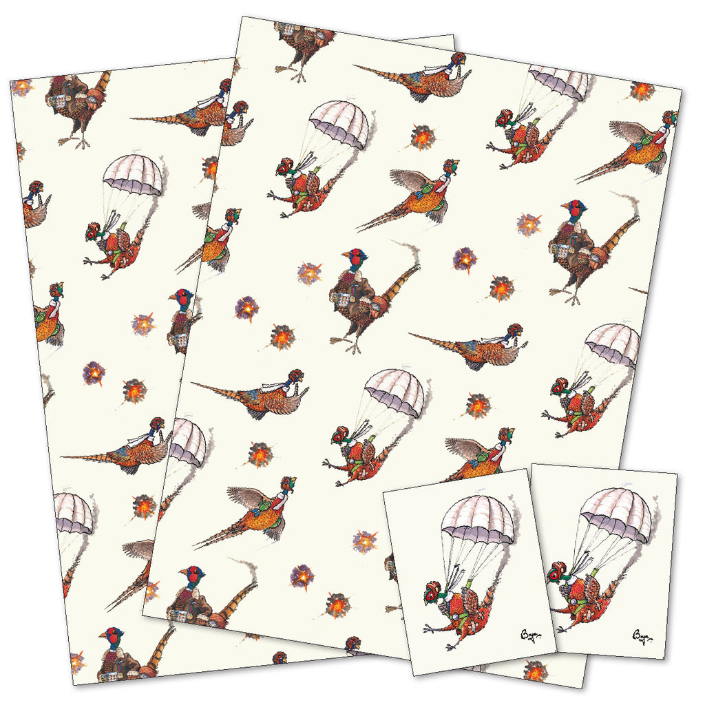 Pheasant Shooting gift wrap wrapping paper