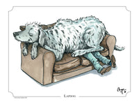 Signed limited edition print. Lapdog by Bryn Parry. Deerhound