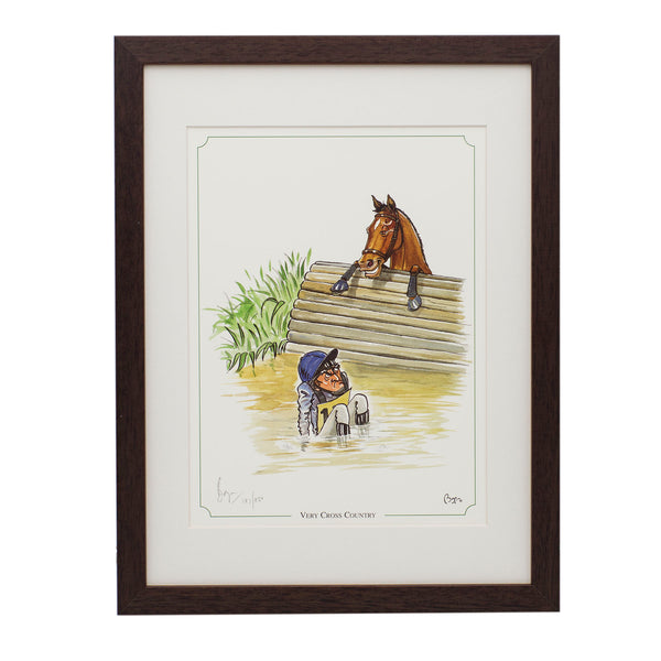 Limited edition horse riding, eventing framed print. Very Cross Country by Bryn Parry