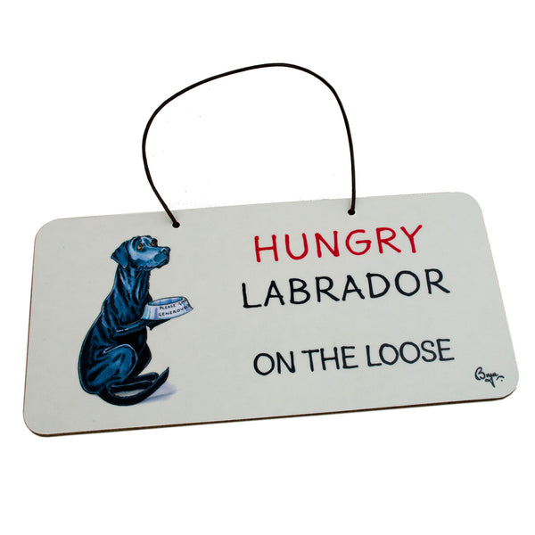 Black Labrador Door Sign by Bryn Parry