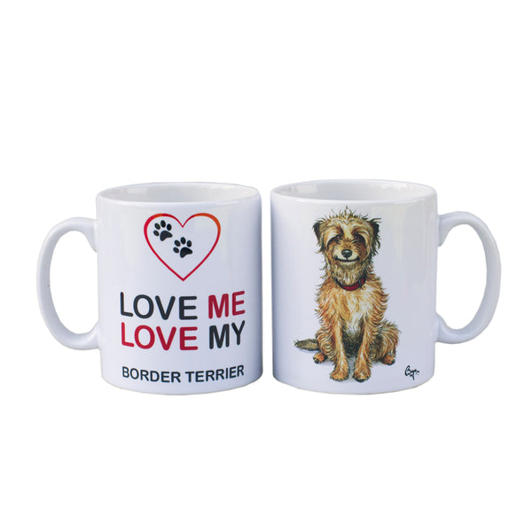 Border Terrier Mug by Bryn Parry
