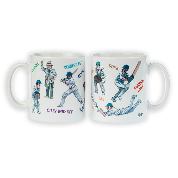 Cricket Mug. Cricketing Terms by Bryn Parry