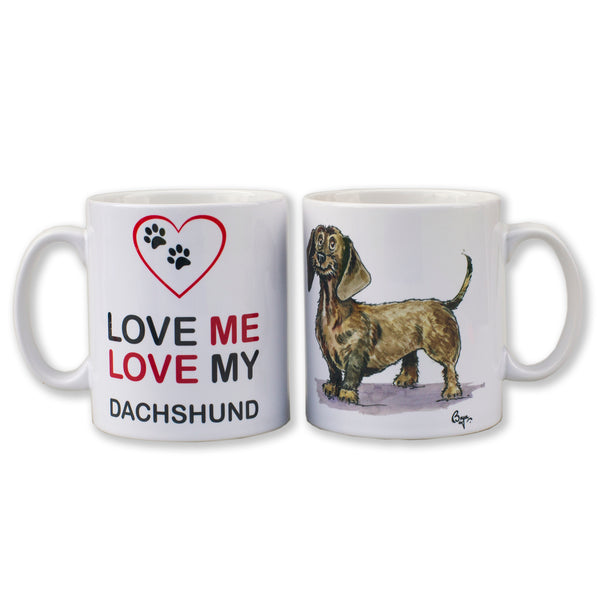 Dachshund Dog Mug by Bryn Parry