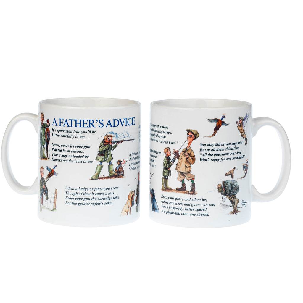 Shooting Mug. Father's Advice by Bryn Parry