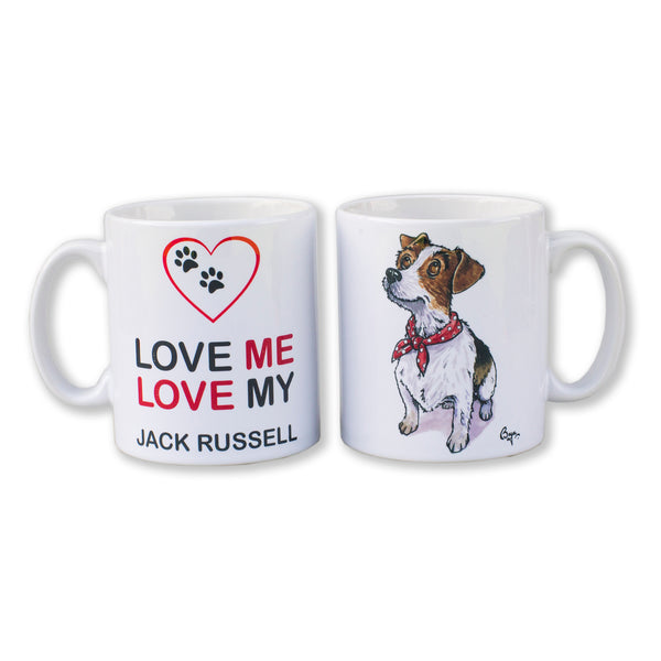 Jack Russell Terrier Mug by Bryn Parry