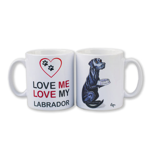 Lunchtime Labrador Dog Mug by Bryn Parry